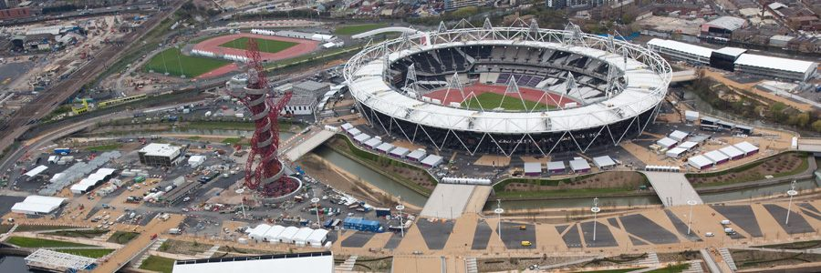Aerial picture of Olympic Stadium in London